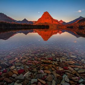 Sunrise at Two Medicine lake, Glacier National Park