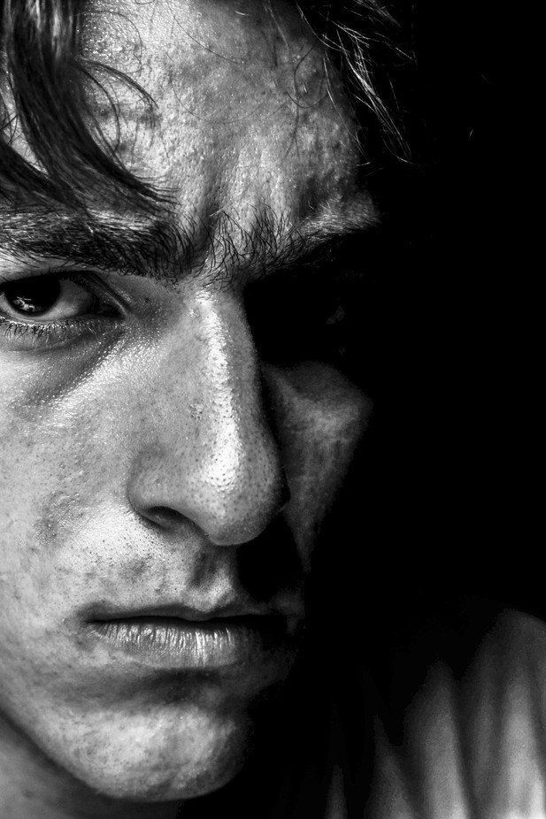 Dark-Portrait by claygroot - Black And White Compositions Photo Contest vol2
