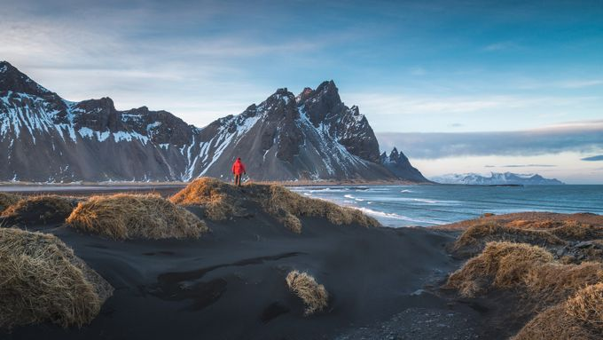 Me looking out at Stokksnes by byrnephotography - Creative Travels Photo Contest