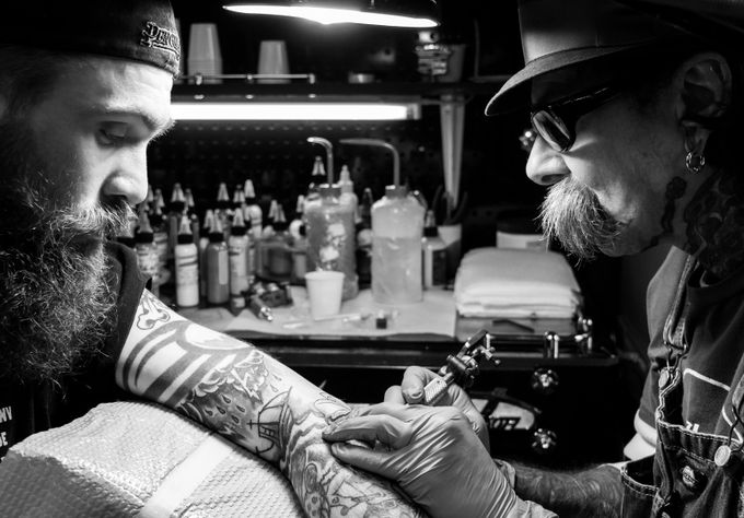 Duke Tattooing Frank by brandonleedittsworth - The Lifestyle Project