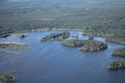 Lake Petenwell aerial view