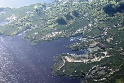 Lake Petenwell aerial shot