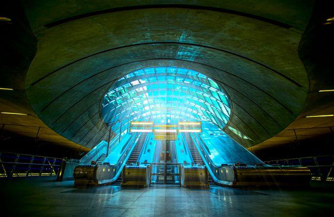 Blue Light by jacksoncarvalho - Public Transport Hubs Photo Contest