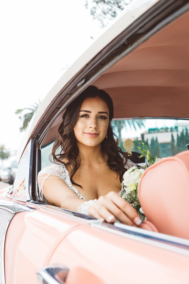 Alex & Pink Cadillac by waltermontalvo - Here Comes The Bride Photo Contest