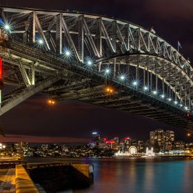 A little HDR of Sydney's Harbour bridge and Luna Park