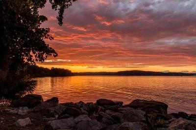 Riverfront Sunset