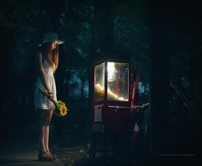 The night was dark and full of wonders.