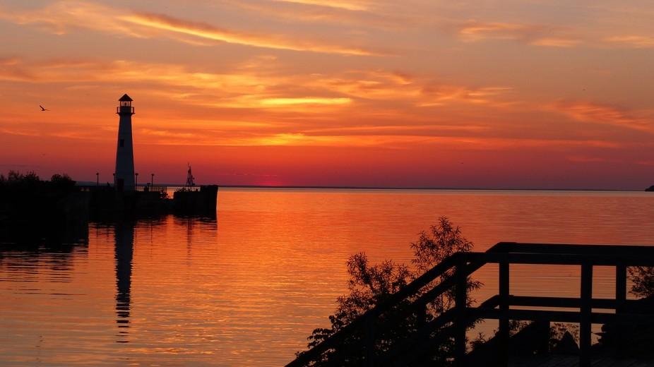 Sunrise in St Ignace, Mi