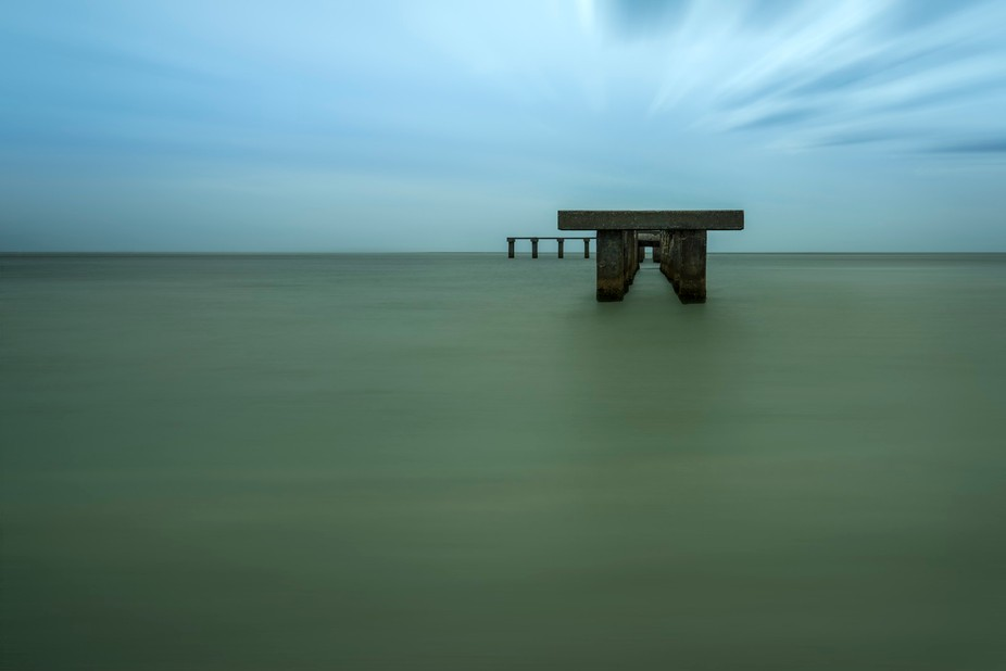 This is another long exposure of an old pier at Gasparilla Island State Park in Boca Grande. Ther...