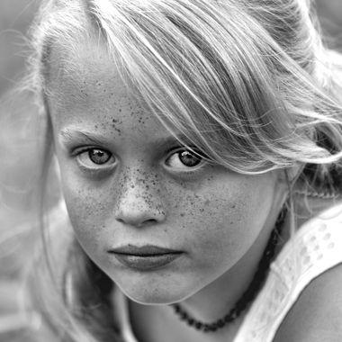 McKayla black and white vignette