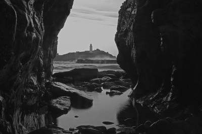 Godrevy lighthouse in Cornwall UK