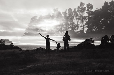 Family In the clouds