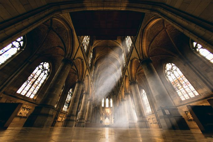Beams inside the Dom by jacksoncarvalho - High Ceilings Photo Contest