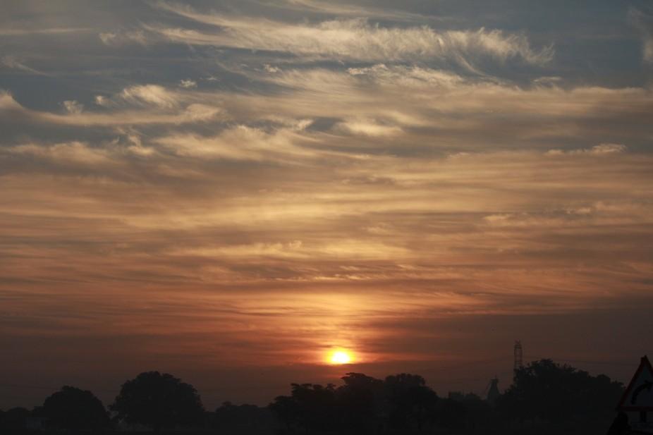 Sun rise at Barakheda pond
