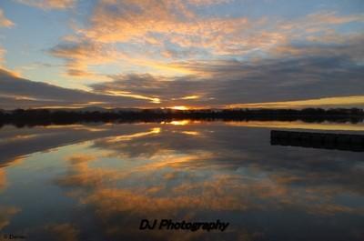 Cloud reflections,Rhyl marina