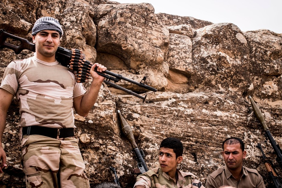 Peshmergas were trained on the mountains for survival and endurance, to prepare themselves for war
