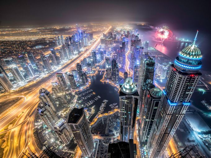 The great dubai by keowweeloong - Our World At Night Photo Contest