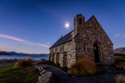 Church in the Moonlight