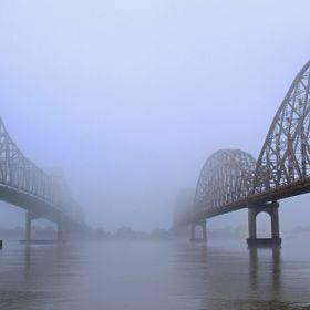 Foggy morning on the Atchafalaya River.