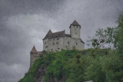Middle Ages, Gutenberg castle, Principality of Liechtenstein.