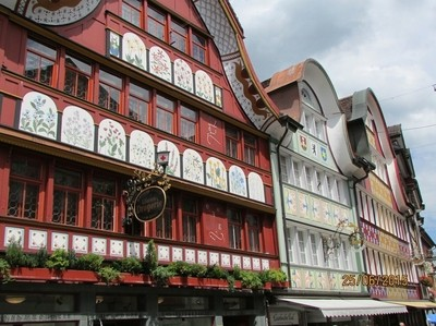 Appenzell, Switzerland, historic buildings