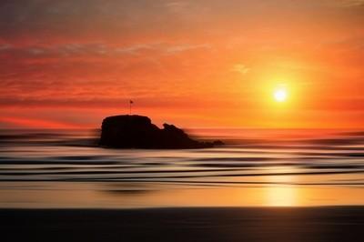Sunset @ Perranporth in Cornwall UK