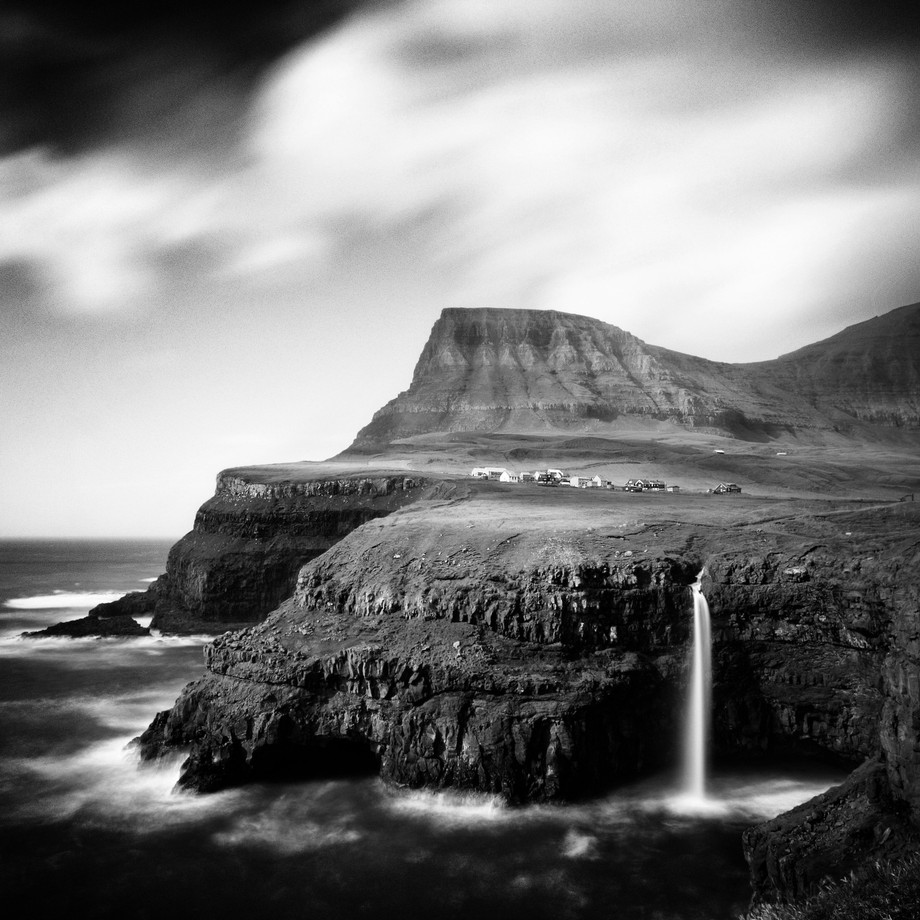 Gásadalur village in Faroe Islands by TrashTheLens - Awesomeness In Black And White Photo Contest