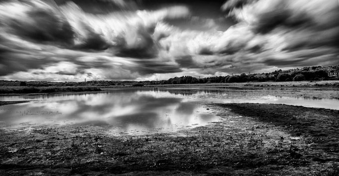 Wombwell Ings Long exposure by markdobson - Awesomeness In Black And White Photo Contest