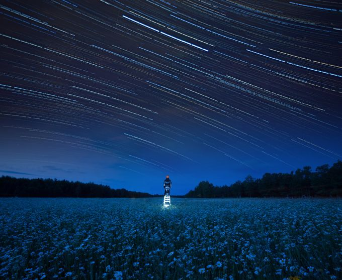To Reach The Stars by GigiJim08 - A World Of Blue Photo Contest