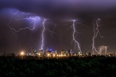 Melbournes Striking Night