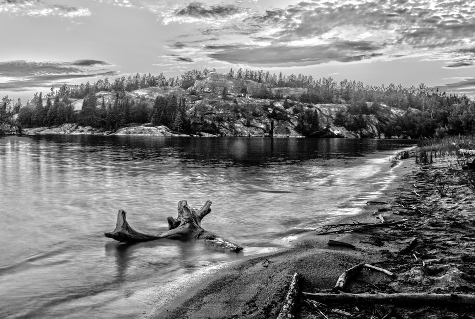 In Pukaskwa National Park, Canada - Morrison Harbour at dusk. 2015.