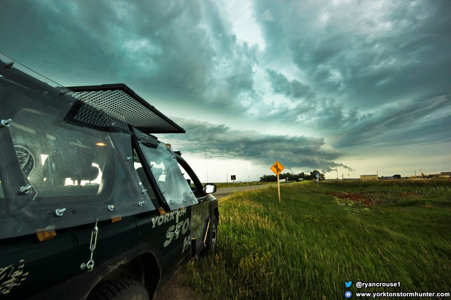Beautiful Shelf Cloud beginning to grow, East of Vibank Sk. Canada around 6pm on July...