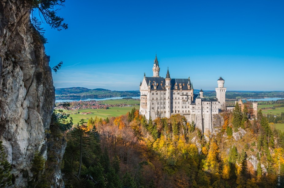 """Schloss Neuschwanstein, also known as """"New Swan Stone Castle"""" is the unfinished fantasy..."""