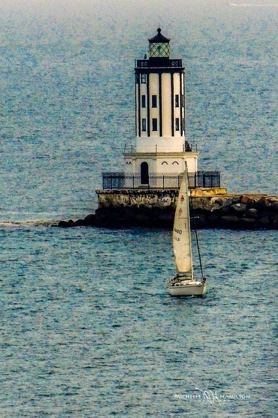 Sailing past Angel