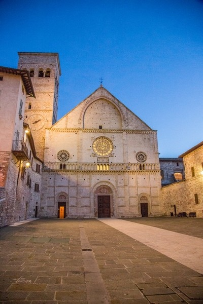Bluehour Over Assisi Church
