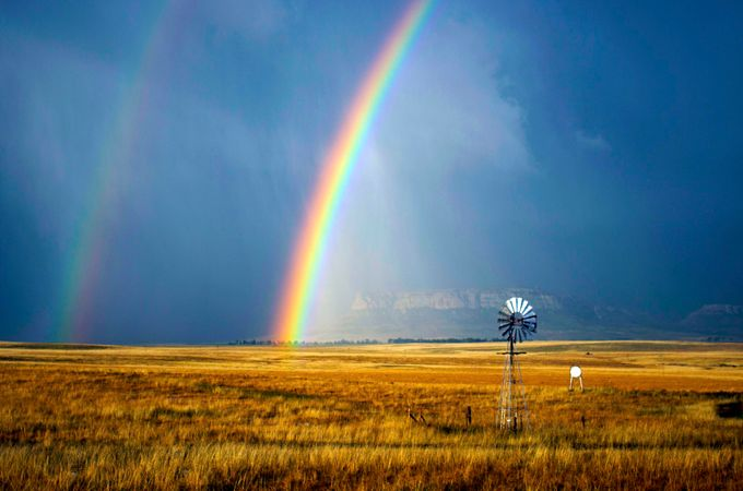 Double-Rainbow-Harrismith by Flycatcher - 200 Windmills Photo Contest