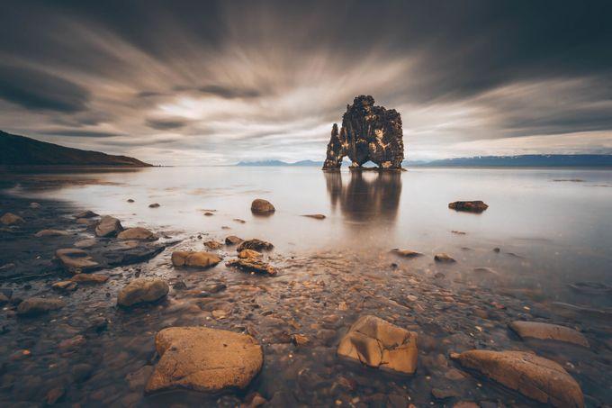 The Troll of Hvitserkur by leireunzueta - Landscapes Of Iceland Photo Contest