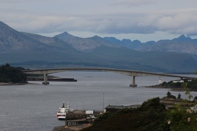 Skye Bridge with the Cullins in the background