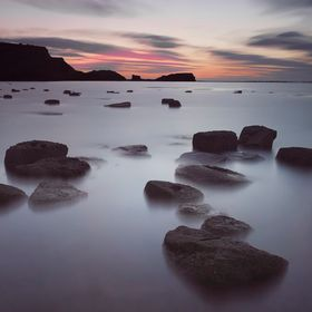 A Long exposure shot from Saltwick Bay