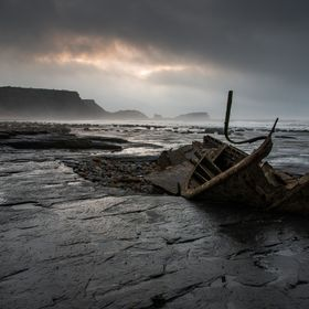 Saltwick Bay is just down the coast from Whitby in the UK and this shipwreck is slowly eroding and it makes a great subject to photograph