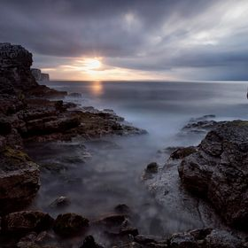 Thornwick Bay is located up the coast from Bridlington and the rocks make for quite a dramatic location to photograph