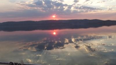 Sunset over Lake Argyle, near Kununurra