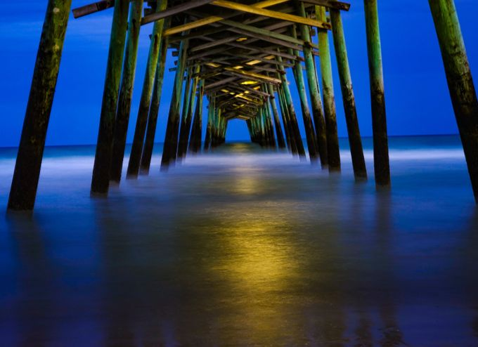 Pier at Sunset by alexgutierrez - Dark And Bright Photo Contest