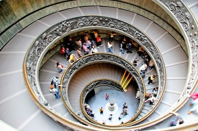 Staircase inside Vatican Museum