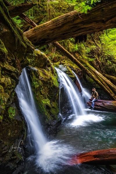 Beneath Murhut Falls