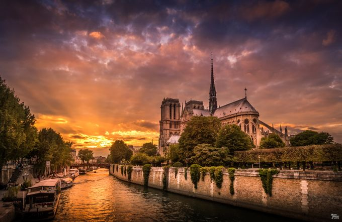 Notre Dame Sunset by miommi - Sunset In The City Photo Contest