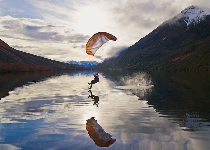 Lake Skimming by sdkmax - Rule Of Seconds Photo Contest vol1