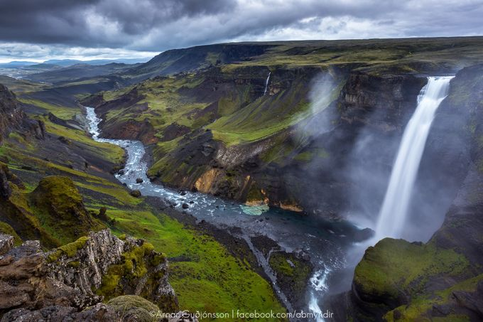 The waterfall Háifoss by Arnar - Landscapes Of Iceland Photo Contest