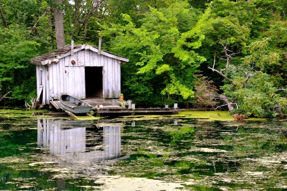 Boathouse in Swamp