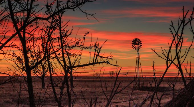 Windmill at Sunset by kerikson211 - 200 Windmills Photo Contest